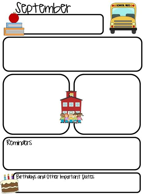 free monthly newsletter templates for teachers 17 best ideas about kindergarten newsletter on