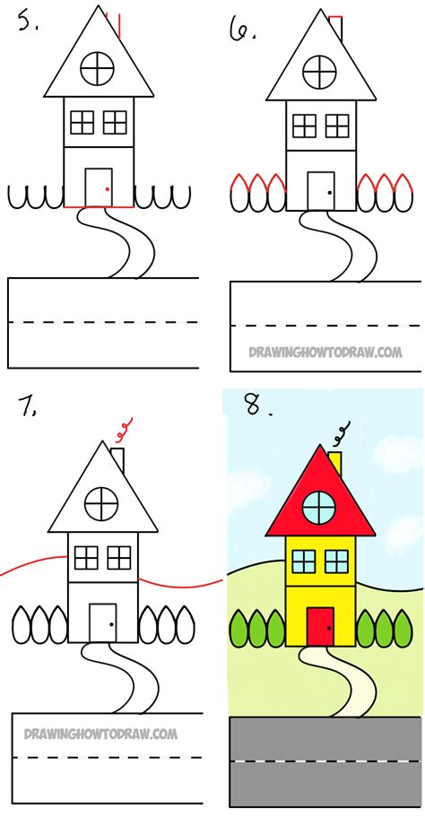 how to draw a house for kids step by step drawing simple house drawing easy potos how to draw a house in 1