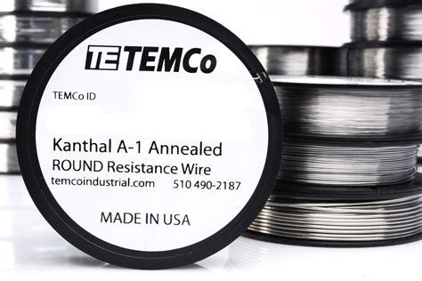 resistors made in usa temco kanthal a1 wire 29 50 ft resistance awg a 1 ga ebay