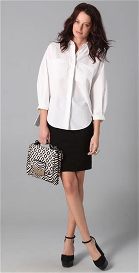 Sachi Blouse take the bombshell out of a pencil skirt ylf