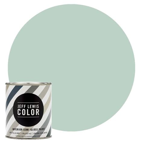 jeff lewis color 1 qt jlc513 aloe semi gloss ultra low voc interior paint 504513 the home depot