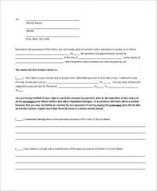 30 Day Eviction Notice Template by Doc 710950 30 Day Eviction Notice 3060 Day Notice To