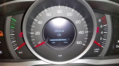 volvo xc suv   check oil level driver information center menu youtube