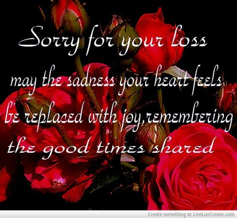 sorry for your loss quotes sorry about your loss quotes quotesgram