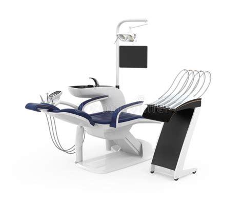 sedia dentista sedia alla moda dentista isolata su fondo bianco