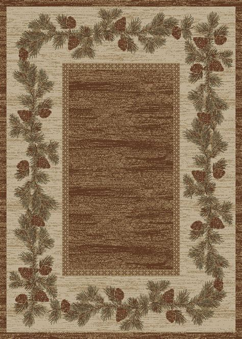 area rugs for cabins 1 two pack 2x3 s lodge cabin rustic pinecone brown area rugs free shipping ebay