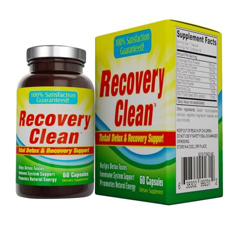 Detox System From Drugs by Recovery Clean Herbal Detox Cleanse Pills Ebay