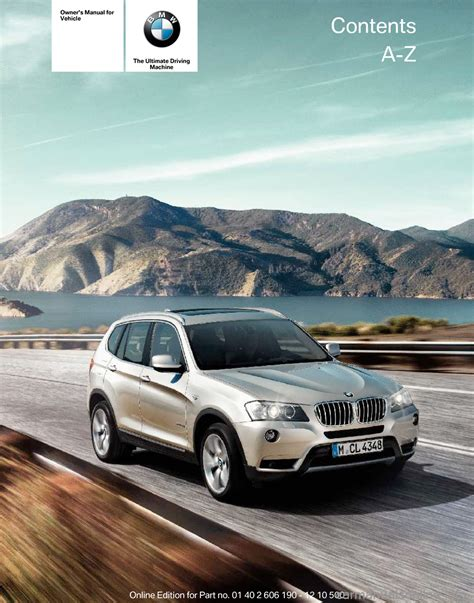 car manuals free online 2006 bmw x3 auto manual bmw x3 2011 f25 owner s manual