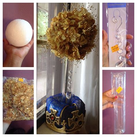 Prince Baby Shower Centerpieces by Gold Floral Centerpiece For Royal Prince Baby Shower Theme