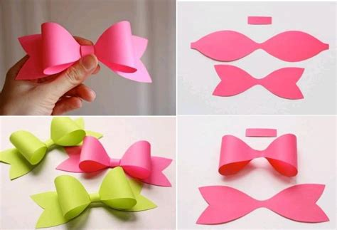 How To Make Paper Handicraft - how to make paper craft bow tie step by step diy tutorial