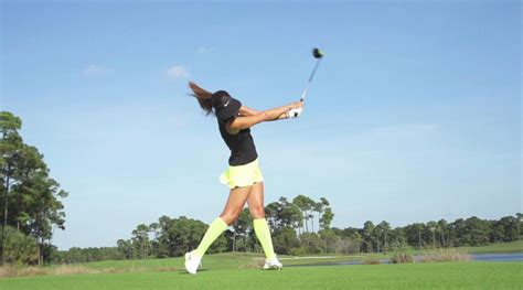 michelle wie swing analysis michelle wies swing face on in slow motion si com