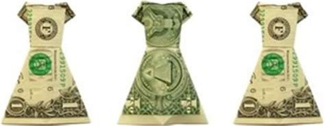 Money Origami Dress - dollar bill origami graduation gift success stor