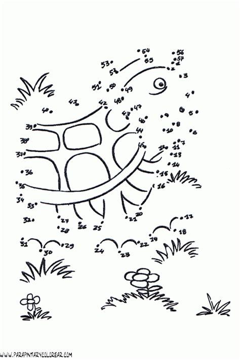 imagenes para colorear uniendo puntos animales dibujar uniendo puntos numeros 111