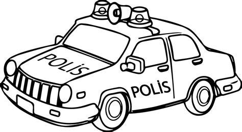 polis araba boyama sayfasi