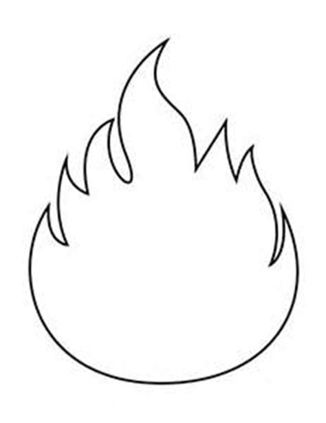 template of flames printable flames clipart best