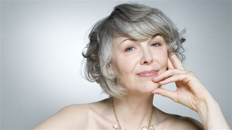 older women short hair with grey low light going grey or color away how hair color shades our