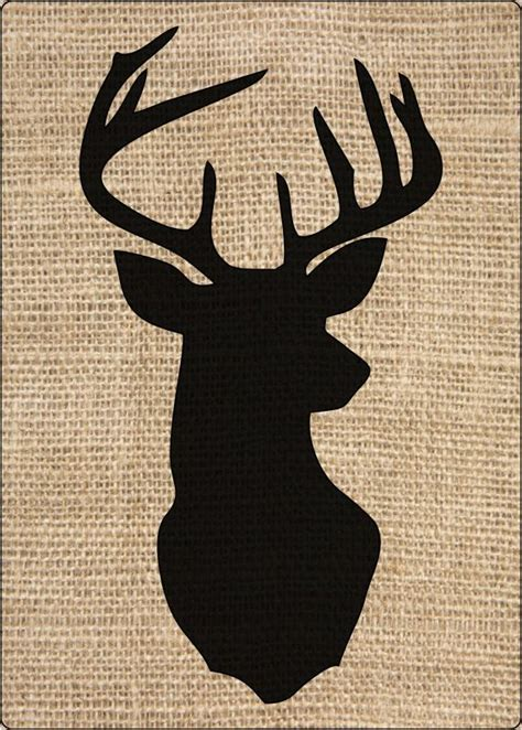 17 best ideas about deer head silhouette on pinterest