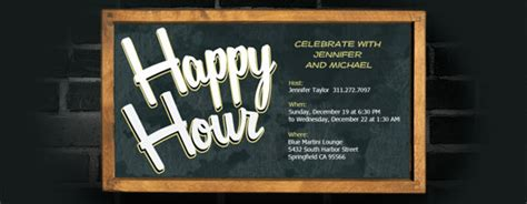 happy hour invitation template happy hour free invitations