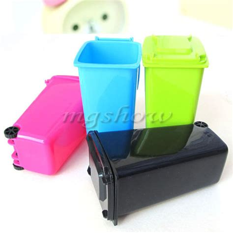 Novelty Office Desk Accessories Novelty Mini Wheelie Bin Desk Tidy Desktop Stationery Organiser Pen Pot Holder In Pen Holders
