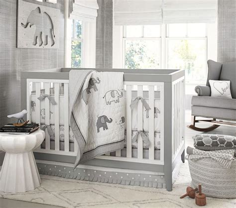 pottery barn elephant rug organic nursery bedding pottery barn