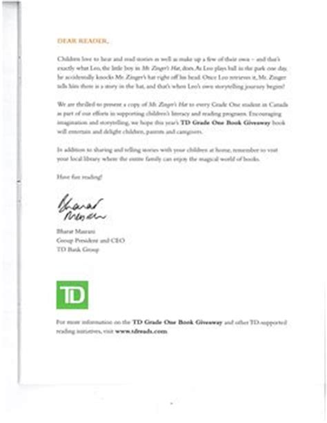 Td Bank Letterhead York Region District School Board Turns Free Books Citing Policy Yorkregion
