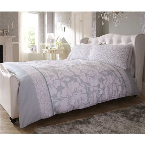 Tesco Bedding Set Buy Catherine Lansfield Victoriana Bed Cotton Rich Quilt Set Duck Egg From Our