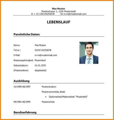 Lebenslauf Vorlage Uni Absolvent 11 Tabellarischer Lebenslauf Uni Resignation Format