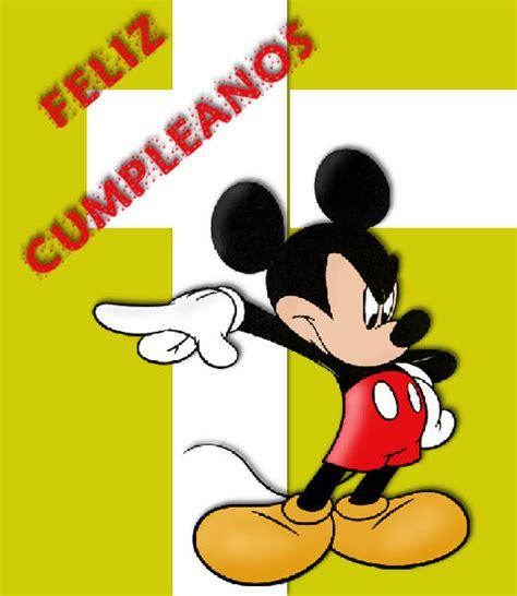 imagenes feliz cumpleaños mickey mouse mickey mouse disney tarjetas im 193 genes cumplea 241 os