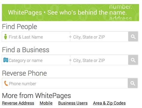 White Pages Phone Lookup Whitepages Lookup Business