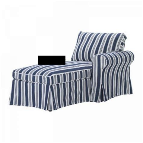 blue and white striped slipcovers ikea ektorp right hand chaise longue slipcover cover
