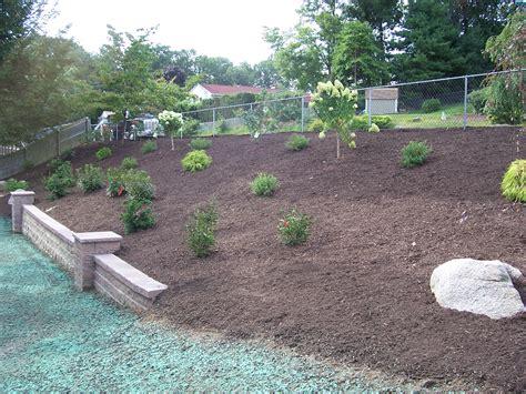 landscaping a hillside backyard backyard hillside garden country landscaping llc