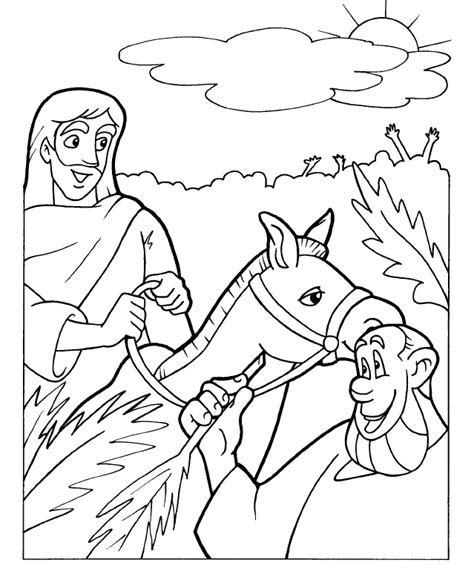 coloring page jesus triumphal entry triumphal entry coloring page