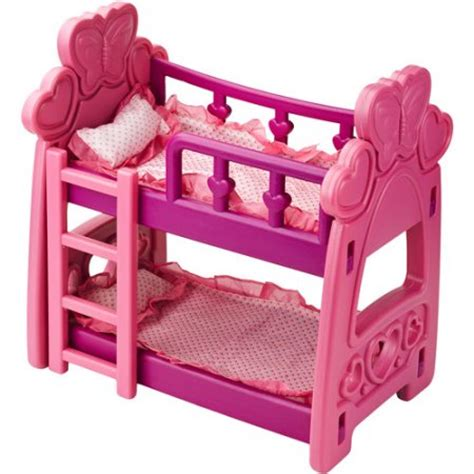 bunk beds for dolls badger basket hearts doll bunk bed walmart com