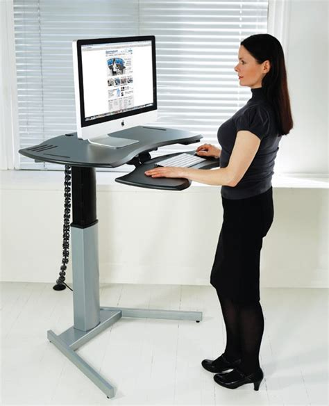 Standing Computer Desk by Motorized Xo2 El Standing Desk With Single Or Dual Surface