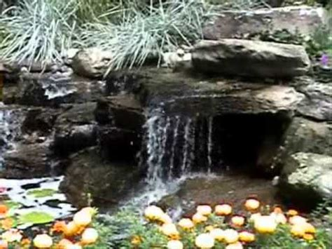 serenity pool waterfall installation youtube harmony ponds the serenity of a natural backyard pond and