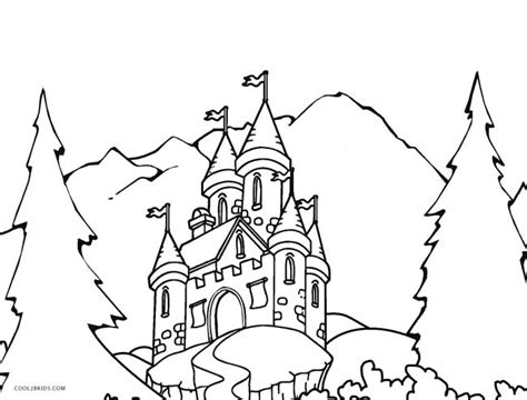 medieval castle coloring page printable castle coloring pages for kids cool2bkids