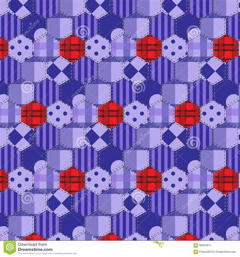 Selimut Patchwork Motif Purple Flower seamless pattern patchwork purple fabrics hexagon stock vector image 58094811