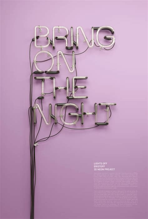 beautiful neon typography by rizon parein the 3d typography and illustrations of rizon parein