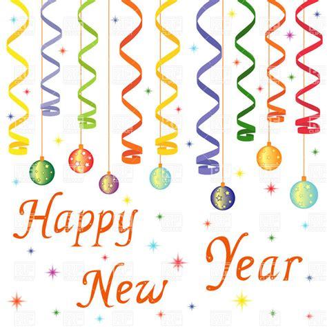 new year vector border happy new year decoration balls on confetti