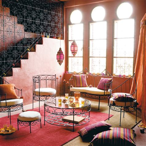 Moroccan Style Living Room with Moroccan Living Room Velvet Palette