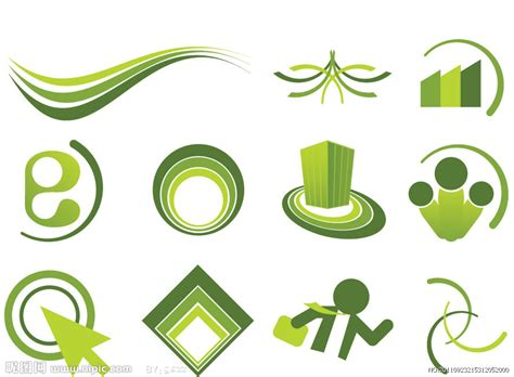 imagenes de logos geniales 绿色线条圈圈logo标志设计矢量图 网页小图标 标志图标 矢量图库 昵图网nipic com