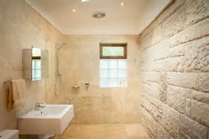 Travertine Shower Ideas features brigadoon blue mountains