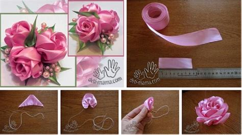 website ribbon tutorial diy easy ribbon rose tutorial pictures photos and images