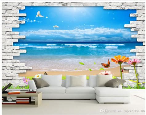 classic home decor clear water blue sky  background wall