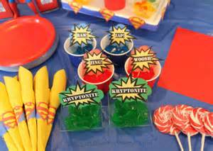 Birthday Theme Decorations - superman birthday party happy and blessed home