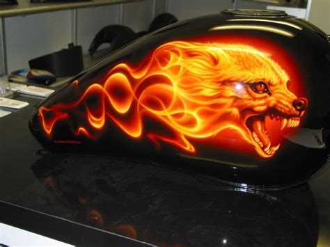 Lackieren Wolf by Flaming Wolf Airbrush Airbrush