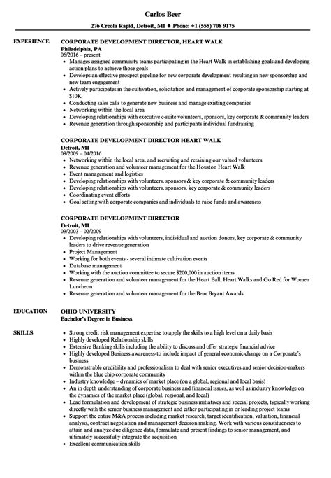 Business Development Specialist Cover Letter by Corporate Development Resume Resume Ideas