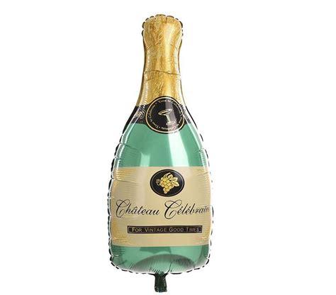 Balon Foil Wine Glass chagne bottle balloons and gold paper tassels kit for