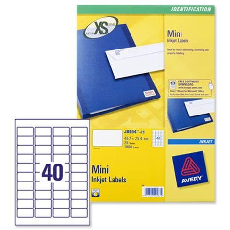 Avery Labels 40 Per Sheet Template