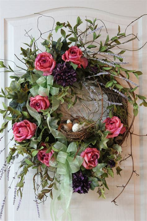 Summer Front Door Wreaths Items Similar To Front Door Wreath Country Wreath Summer Wreath Fall Wreath Bird Nest Wreath